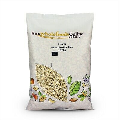 Organic Jumbo Porridge Oats 1.25kg   Buy Whole Foods Online   Free UK Mainland P