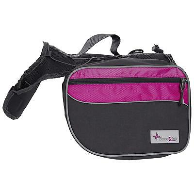 Good2Go Pink Dog Backpack, Medium Storage for water, gear, first aid supplies