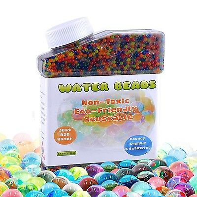 Water Beads (40,000 beads) Vase Filler Plant Flower Jelly Crystal Soil Gel Balls
