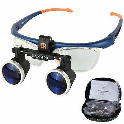 Dental Binocular Loupes 2.5x420mm Magnifier Galileo Frame Glasses Fd-503g Ce Fda