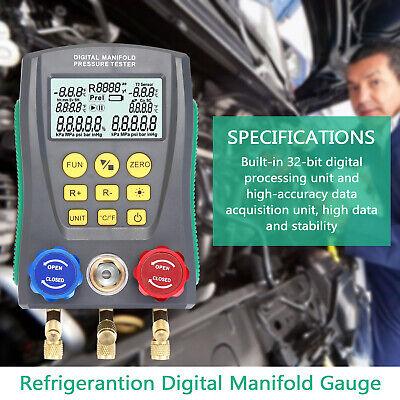 Dy517 Refrigeration Digital Manifold Gauge Hvac Vacuum Pressure Temp Tester S4r4