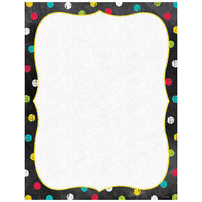 Decorative Computer Paper - CTP 1988 Colorful Dots on Chalkboard Decorative Computer Paper Teacher Supplies