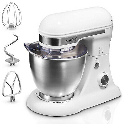 Geek Chef GSM45W Stainless Steel 4.8 Qt Bowl 12 Speed Baking Food Stand Mixer