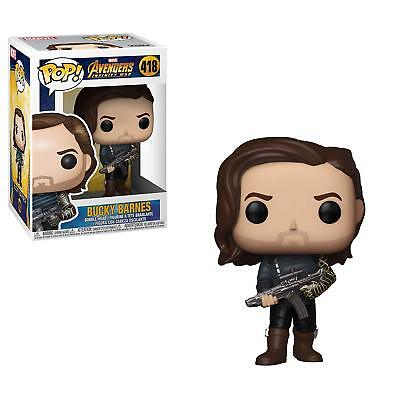 Funko POP Winter Soldier Bucky Barnes w Weapon #418 Infinity War Figure