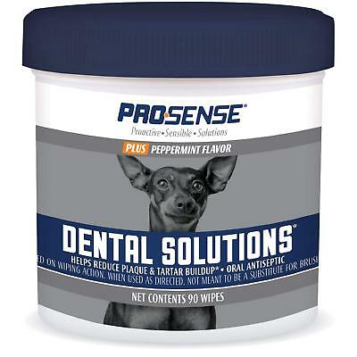 Pro-Sense Plus Dental Solutions Wipes for Dogs 90 Ct (Sense Solutions)