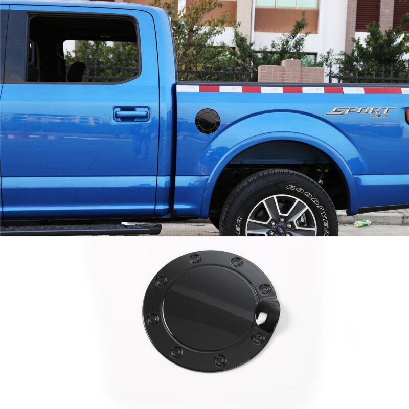 Fuel Filler Gas Cap Tank Door Cover Trim for Ford F150 2015+ Black Accessories