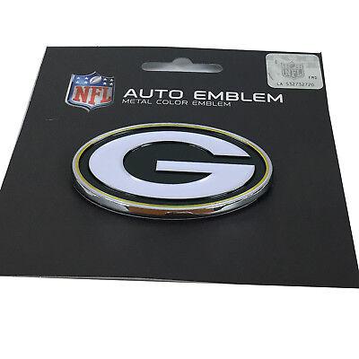 New Nfl Green Bay Packers Auto Car Truck Heavy Duty Metal Color Emblem