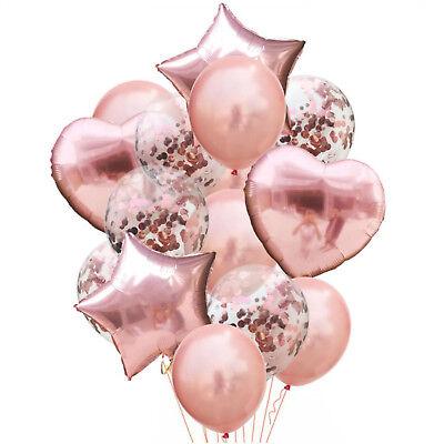 14 Deko Ballons Konfetti Folien Luftballons mit Motiv Geburtstag Hochzeit JGA