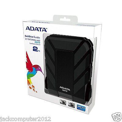 Brand New Adata DashDrive HD710 Waterproof USB 3.0 External Hard Drive 2TB BLack
