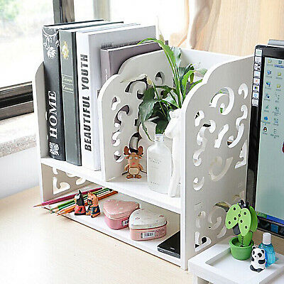 Wood Plastic Composite Desk Organizer Perfect For Book Shelf Make Up Organizer