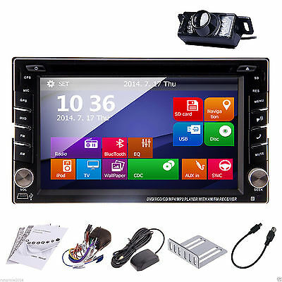 $123.50 - Touch Screen 2DIN In Dash GPS Nav Car DVD Player Bluetooth Auto Stereo Radio+CAM