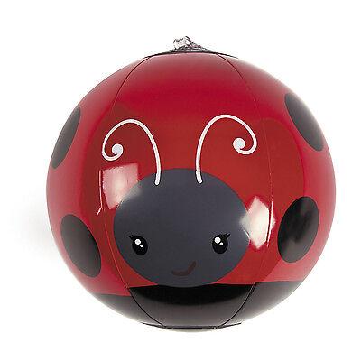 12 Inflatable Mini Ladybug Beach Balls girls TEA PARTY Party Spring pool Decor