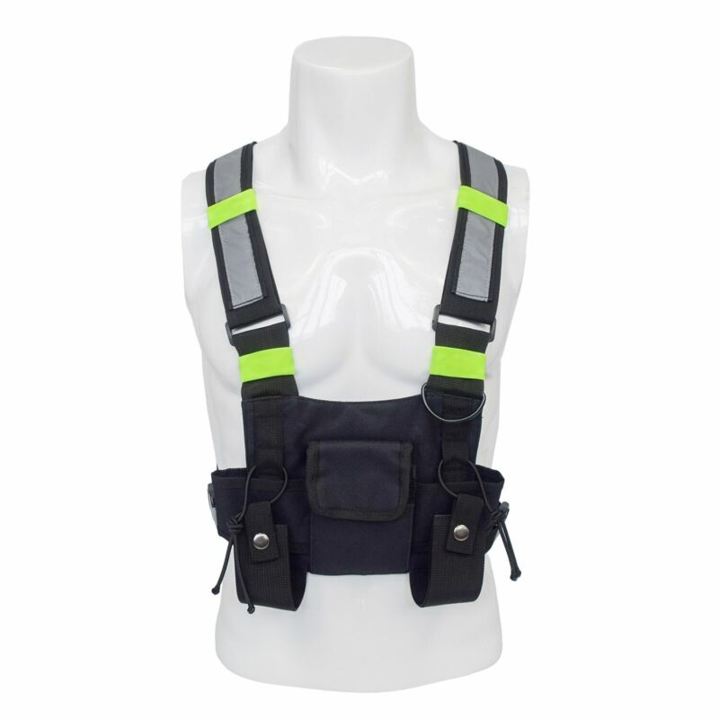 Radio Chest Harness Holster Vest Rig  Front Pack Hands Free Pouch Walkie Talkie