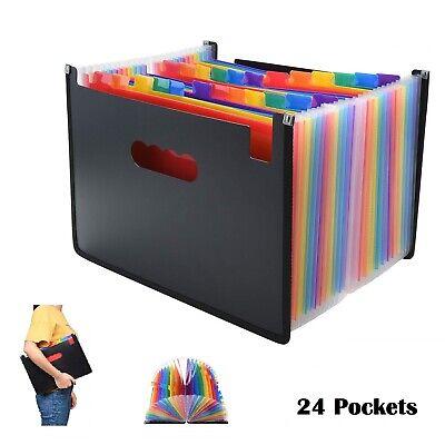 Expanding File Folder Accordion A4 Office Documents Organizer Wallet Storage - Plastic Folders