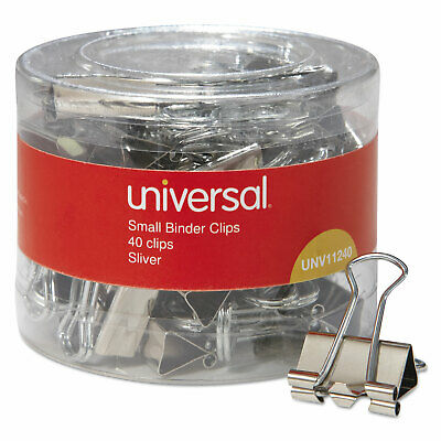 Small Binder Clips 38 Capacity 34 Wide Silver 40 Per Pack