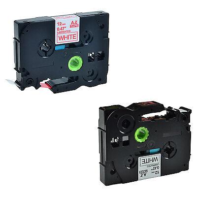 2 Pack Blackred On White Tape For Brother Tze-231 Tz-231 Tze232 Pt-d210 Label