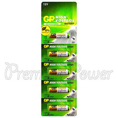 5 x GP 27A Alkaline Super batteries 12V MN27 A27 GP27A E27A EL812 L828 Alarms Batterien 27a 12v Alarm