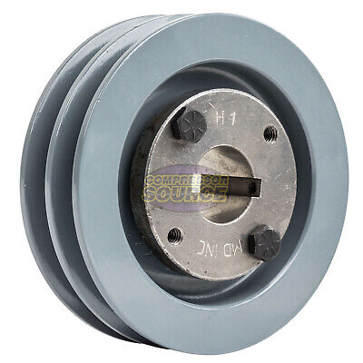 Cast Iron 4 2 Groove Dual Belt A Section 4l Pulley With 1 Sheave Bushing