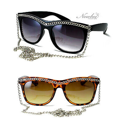 Snooki Sunglasses Long Chain Women GaGa Glasses Jersey Shore Celebrity (Snooki Shades)
