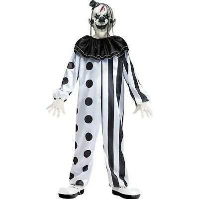 Killer Clown Costume for Kids 10-12 Years Multi Coloured