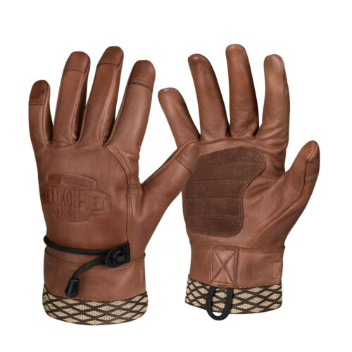 HELIKON TEX Gloves Leather Tactical US Brown Woodcrafter Outdoor Cold Weather