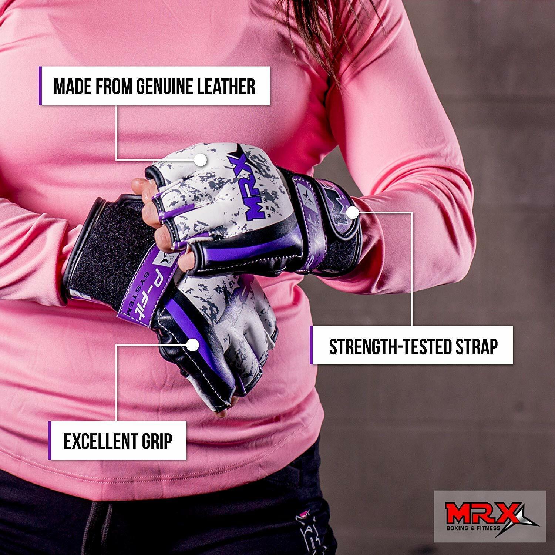 Ladies MMA Grappling Gloves Women Boxing Training Punch Bag Kick Muay Thai Fight