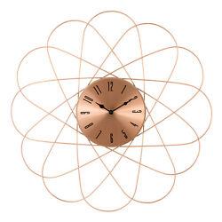 83247-BHG La Crosse Clock Co. 24 Orbit Design Metal Analog Wall Clock - Copper