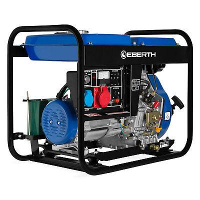 EBERTH 5kW Generador eléctrico diesel trifásico Grupo electrogeno 1x 400V 1x230V