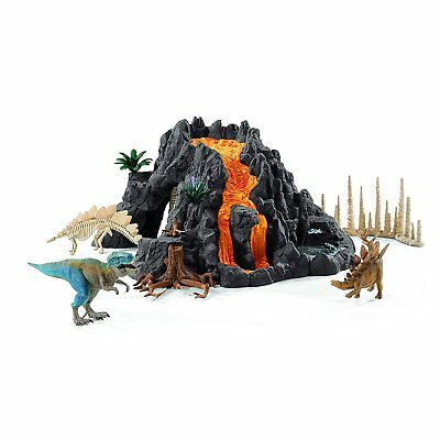 <New> Schleich North America Giant Volcano with T-Rex Playset Japan