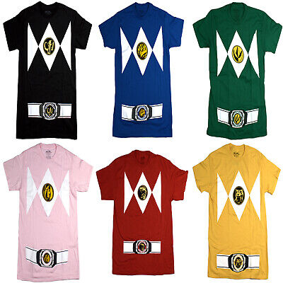 Power Rangers Men's Costume Style, Crew Neck, Short Sleeve T-Shirt ()