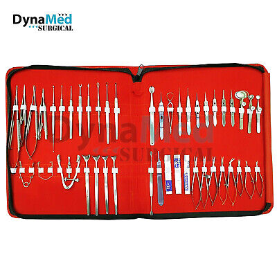 46 Pc Ophthalmic Eye Micro Surgery Surgical Instruments Set Kit