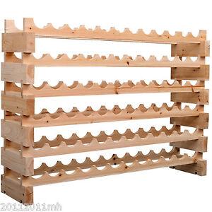 HOMCOM-72-Bottles-Stackable-Wooden-Wine-Storage-Rack-6-Tier-Display-Wood-Shelves