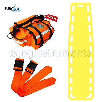Yellow Emt Backboard Spine Board Stretcher Immobilization - Free Emt Trauma Bag