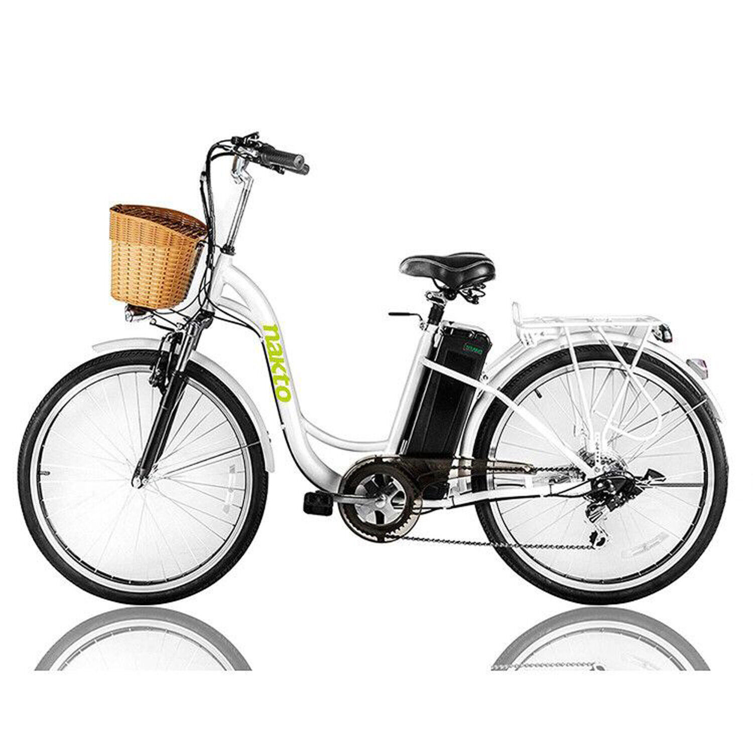 NAKTO Electric Bicycle 26″ Cargo Electric Bike with 250W36V10AH Lithium Battery Cycling
