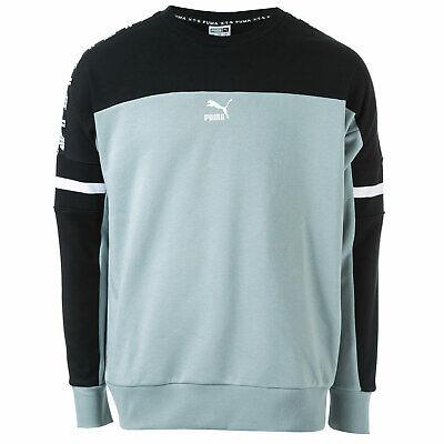 Mens Puma Xtg Crew Sweatshirt In Black Grey- Puma's �Cross Training Group�