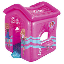 Bestway 93208E Barbie Malibu Indoor Inflatable Activity Center Playhouse, Pink