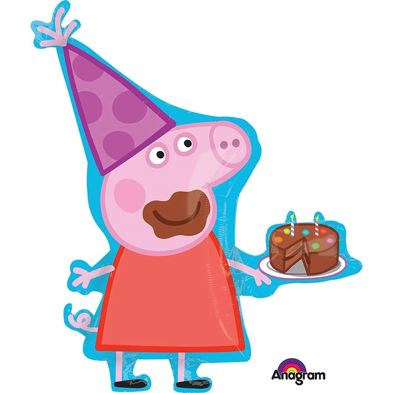 Fabulous 33 Peppa Pig Birthday Cake Jumbo Mylar Foil Balloon Party Funny Birthday Cards Online Inifodamsfinfo