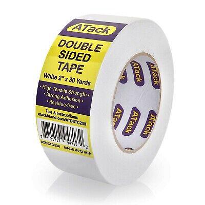 Atack Double-sided Tape White 2 X 30 Yards