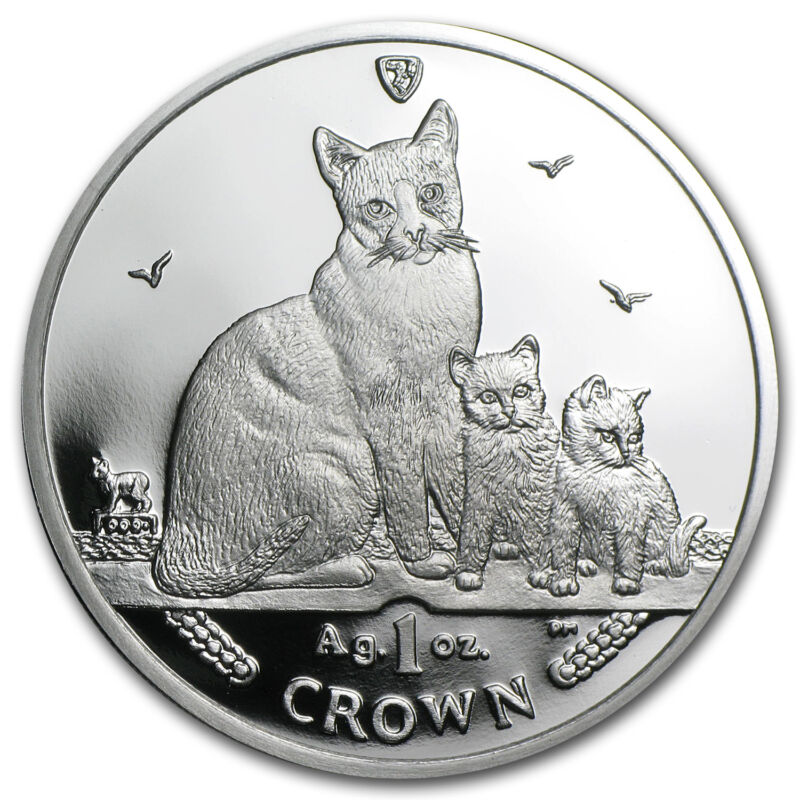 Isle Of Man Silver Cat Coin Ebay