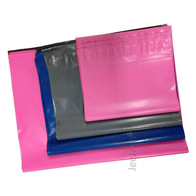 50 MIXED SIZE PINK BLUE GREY POSTAL MAILING MAIL BAGS