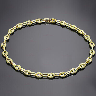 4c9e0f468 アメリカ Iconic Vintage GUCCI Solid 18k Yellow Gold Link Necklace