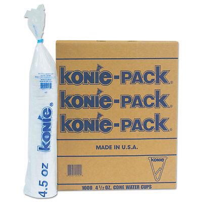 Konie Rolled Rim Paper Cone Cups 4.5 oz White 1000/Pack 45KPPK