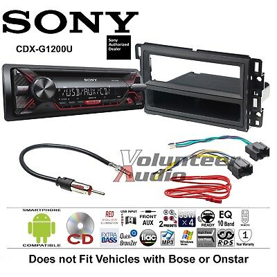 Sony Car Radio Stereo CD Player Complete Install Package Dash Kit +