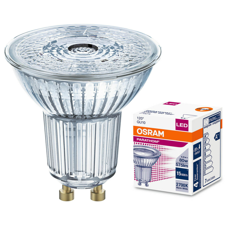 1x 3x 5x osram led reflector gu10 lamps par16 cool warm white 36 deg 60 deg ebay. Black Bedroom Furniture Sets. Home Design Ideas