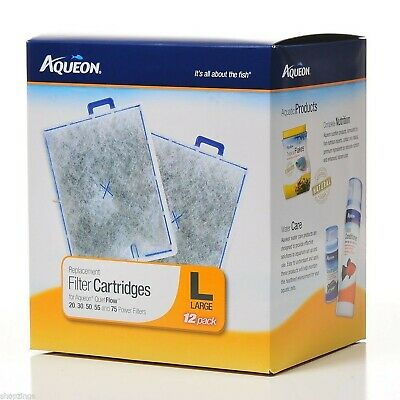 Aqueon Replacement Filter Cartridge, Large, 2 pack of 12-count each