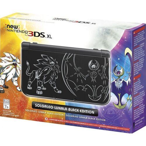 Nintendo New 3DS XL Solgaleo Lunala Black Edition REDSKCAA