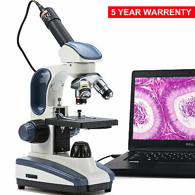Swift 40x-1000x Lab Kids Compound Microscope With 1.3mp Digital Usb Camera