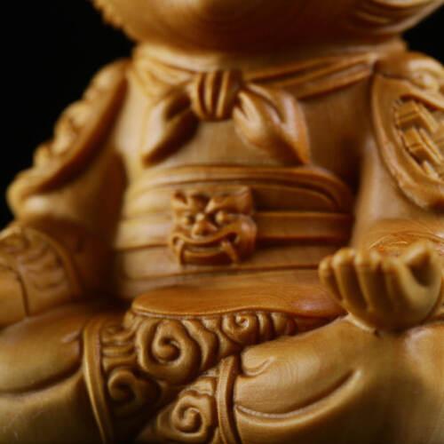 signed by the artist One hand carved boxwood ojime: Monkey symbol of prosperity and wisdom wood monkey bead year of the monkey