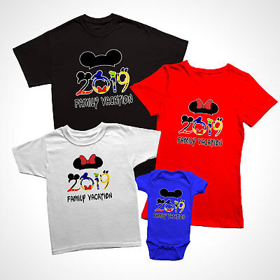 Disney Family Vacation 2019, New Funny Matching T-Shirts for families.](Disney T Shirts For Adults)