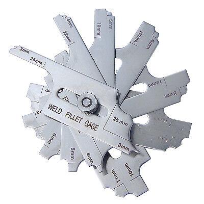 Hfsr 7piece Fillet Weld Set Gage Rl Gauge Welding Inspection Test Ulnar Metric